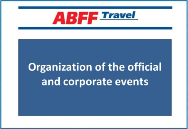 Organization of the official and corporate events