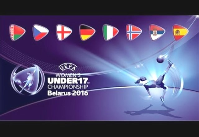 Final of the European Football Championship among girls under 17 years old
